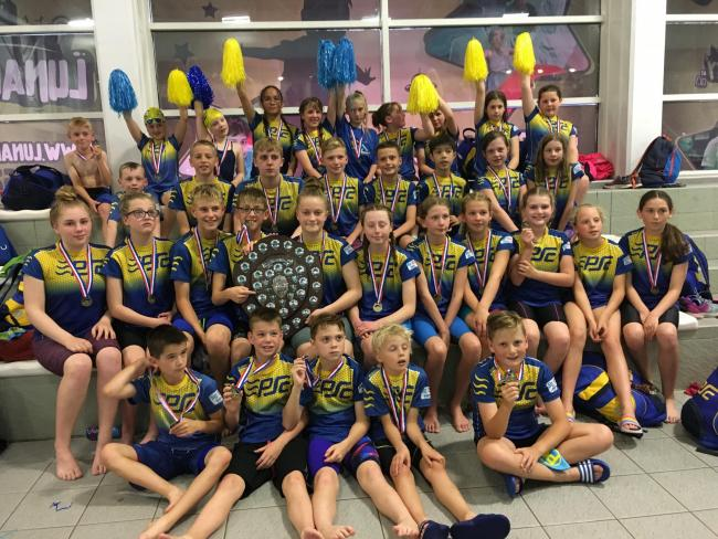 PGL Shield winners Pershore Swimming Club. Picture: IAN HEEKS