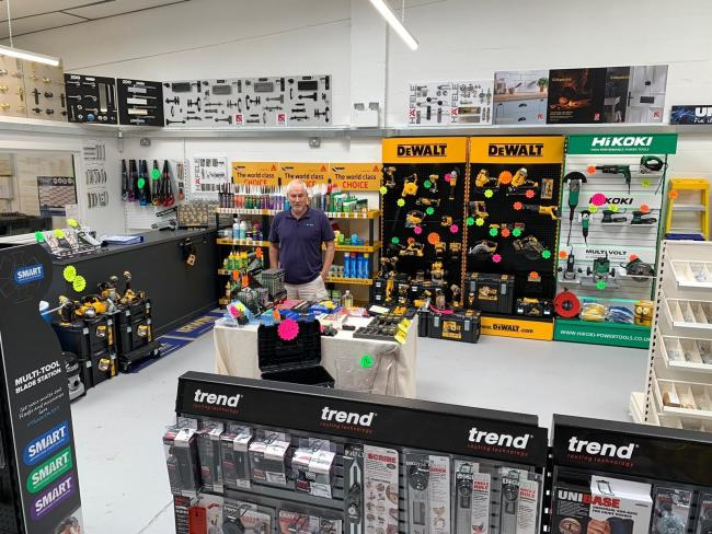 BUSINESS: Gary Looker at the Worcester showroom of Link Tools