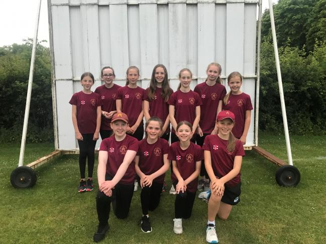 Ashton-under-Hill's first girls' cricket team. Picture: WILL ARCHER
