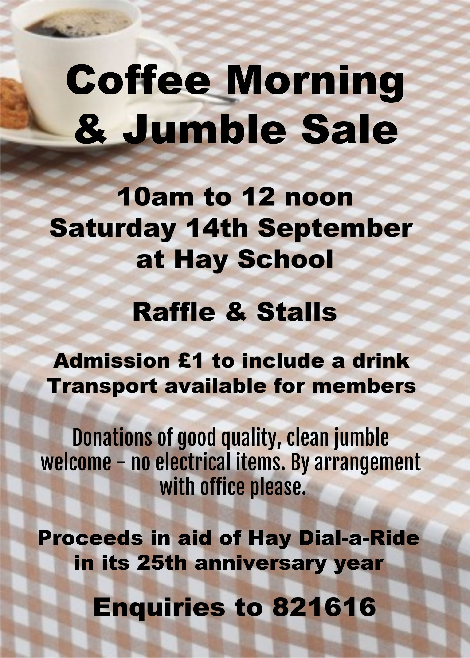 Coffee Morning & Jumble Sale