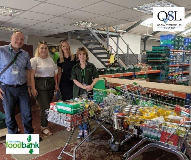 FOOD: ISO Quality Services has donated to Worcester foodbank