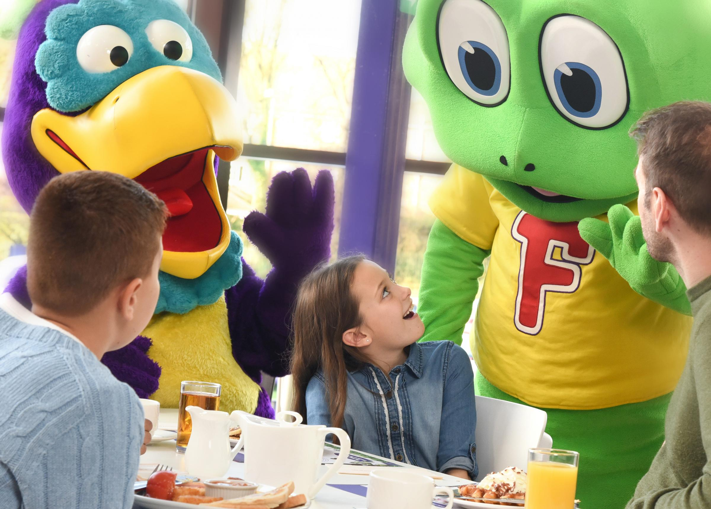 Breakfast with the Cadbury characters at Cadbury World