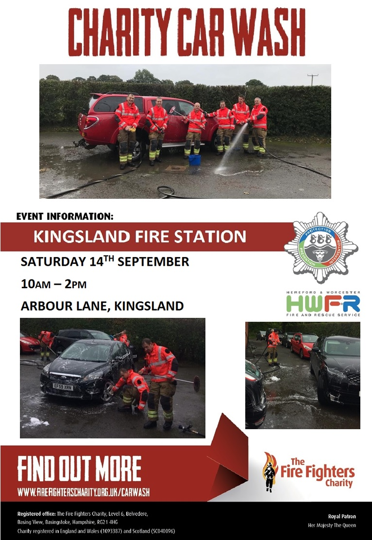 Kingsland Fire Station Charity Car Wash