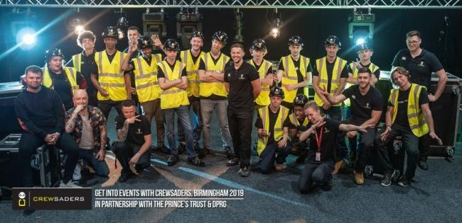 CREW: The young people who took part in the event with representatives from Crewsaders