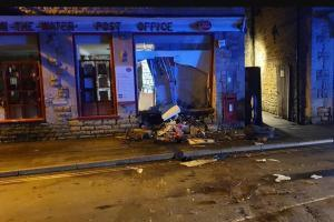 RAM-RAIDERS: The extent of the damage. Picture: Bourton Post Office.