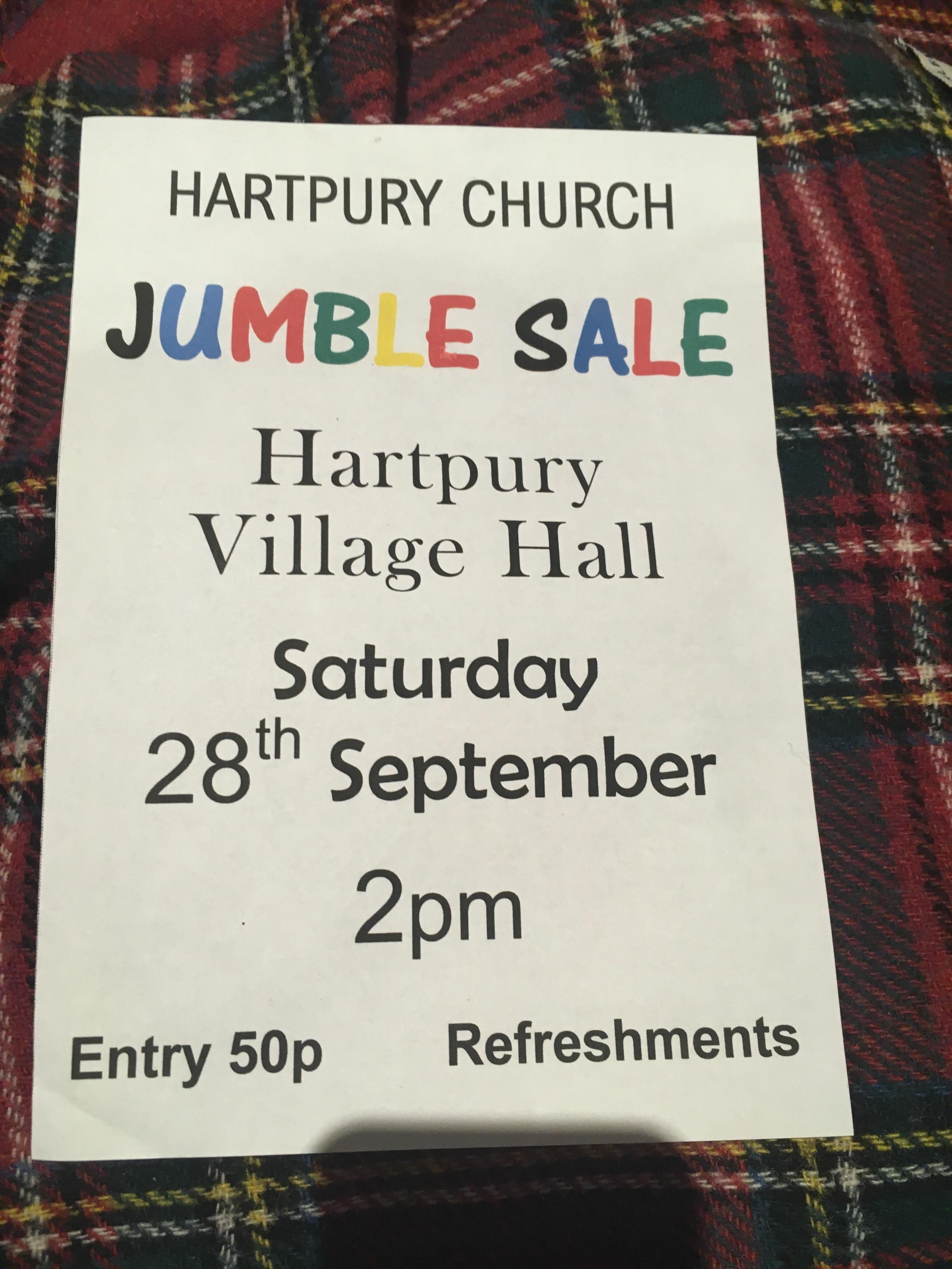 Hartpury church jumble sale