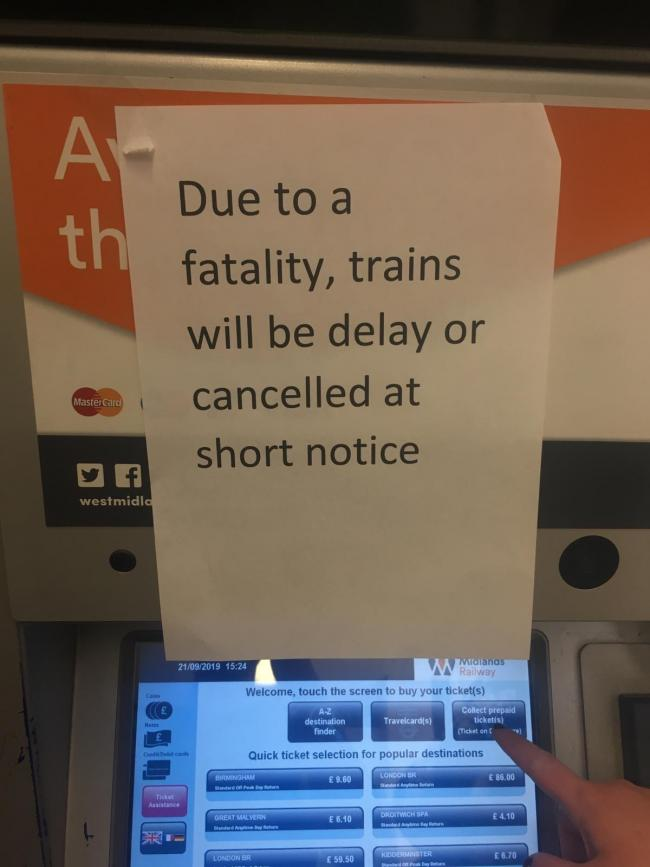 FATALITY: Notice in Foregate Street station