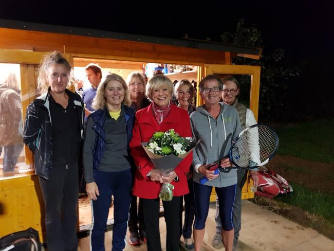 TELEVISION presenter and former tennis player Sue Barker has switched on the new floodlights at Winchcombe Tennis Club. 
