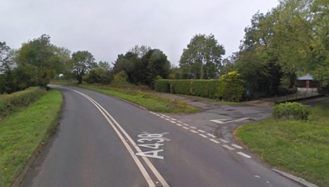 A man involved in an incident on the A438 at Letton on Friday died at the scene. Photo: Google