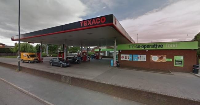 A homeless man stole from the shop at the Texaco petrol station in Holmer Road, Hereford. Picture: Google