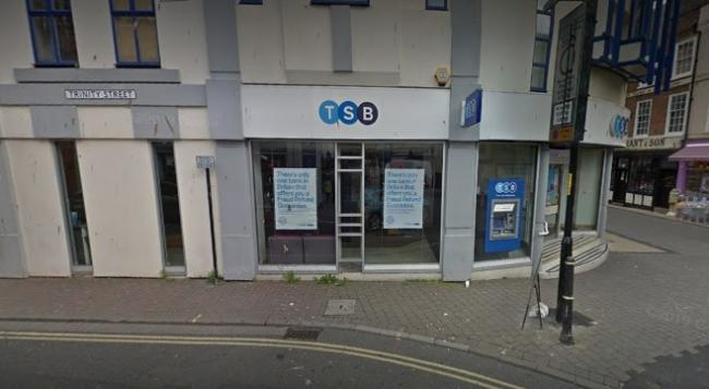 BANK: The TSB branch in Worcester appears to be safe