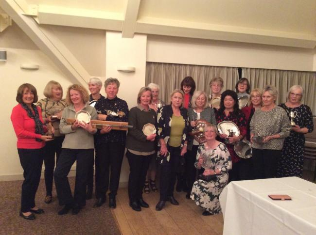 Ladies' section winners during the season at The Vale Golf Club display their trophies at the AGM. Picture: THE VALE GOLF CLUB