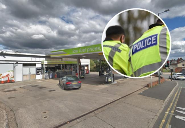 Applegreen petrol station, Leominster, was robbed at knifepoint. Main picture: Google