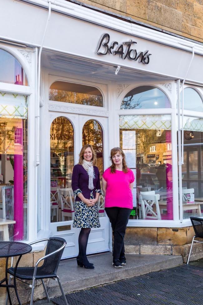 Left – Joanna Hammond, Marketing Manager, Cotswold Friends, Right – Yvonne Lynch, Franchisee, Beatons Tearooms, Moreton.