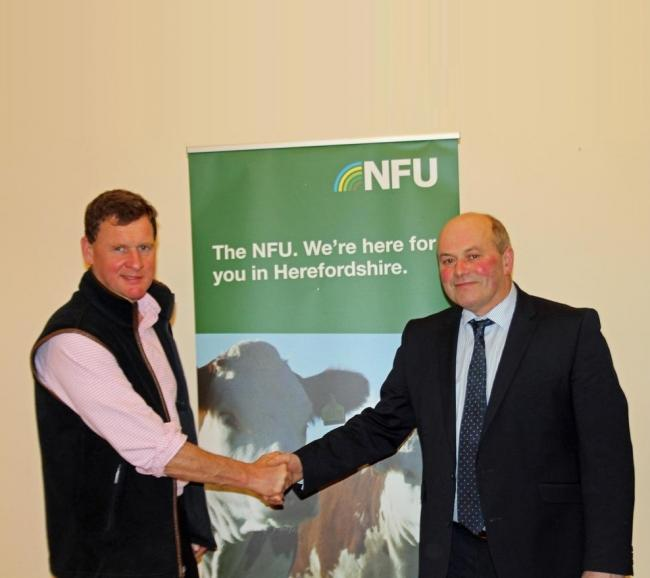 Bill Quan is set to take over from David Watts at Herefordshire NFU chairman when his tenure comes to an end in February.
