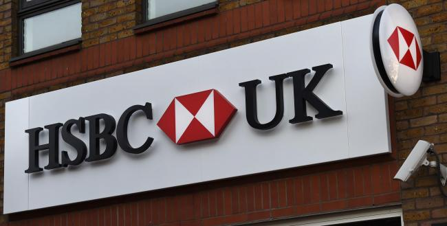 "File Photo dated 24/01/2017 of a branch of HSBC as the banking giant's profits missed expectations after a ""challenging"" fourth quarter that was hobbled by uncertainty surrounding the US-China trade dispute and Brexit. PRESS ASSOCIATION Pho"