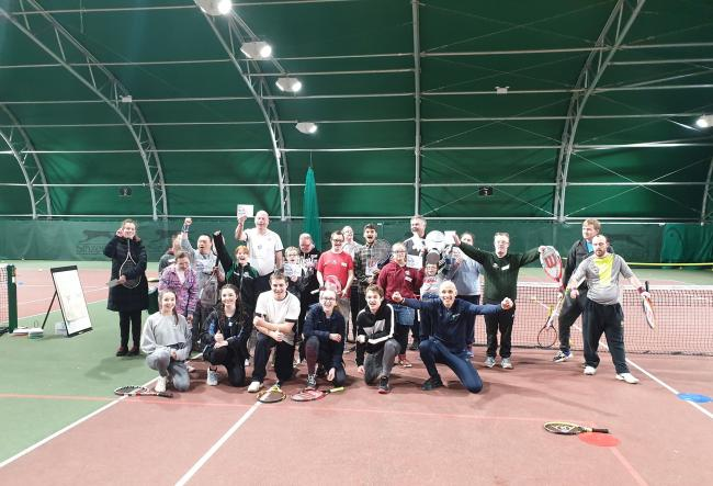 Visitors to the festival. Picture: PERSHORE TENNIS CENTRE
