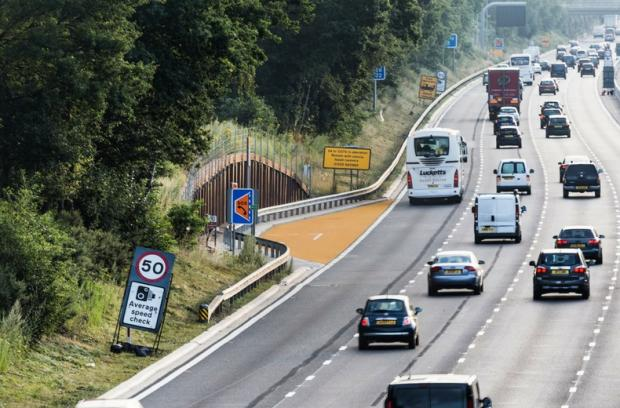 Cotswold Journal: Increasingly, Emergency Refuge Areas (ERAs) are also painted in orange to help drivers spot them. Pic credit: RAC