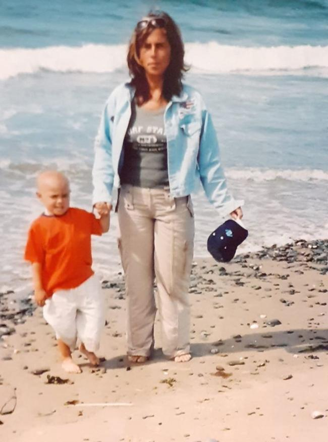 Allison Pennell and her son Danny in 2004