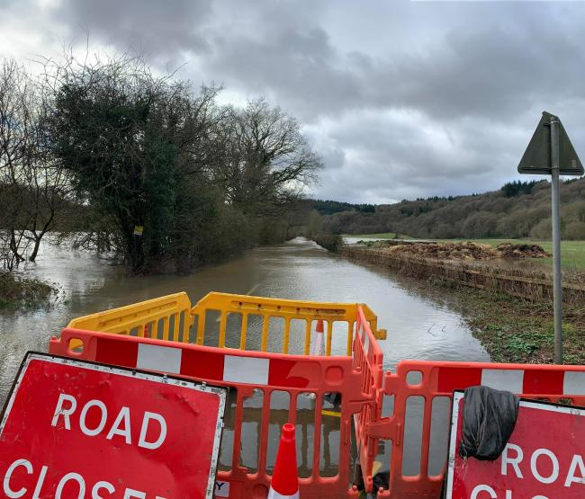 The flooded Bewdley switchback. Photo by Suze Jones-Percival