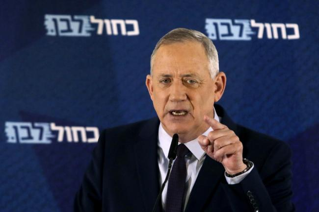 Blue and White party leader Benny Gantz