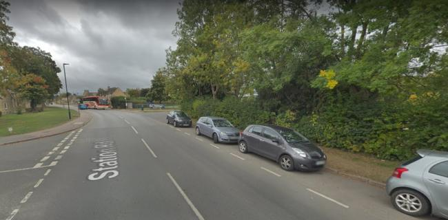 ACCIDENT: A man was hit by a vehicle on Station Road, Bourton-on-the-Water on Tuesday night