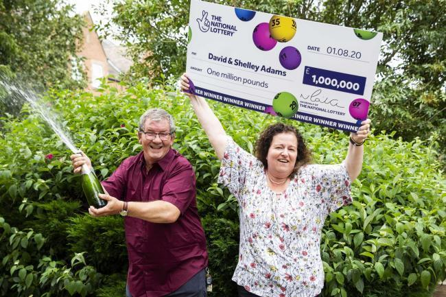 LEAP: David and Shelley Adams, £1 million Lotto winners
