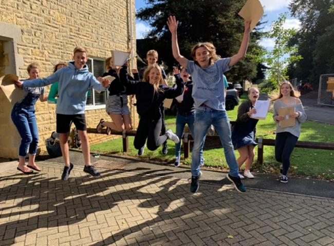 SCHOOL: Chipping Campden School students celebrate their results