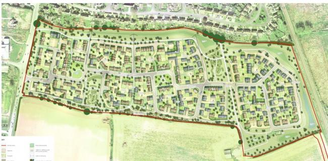 What the 250 homes would look like proposed to be built in Moreton-In-Marsh (Credit: Pad design)