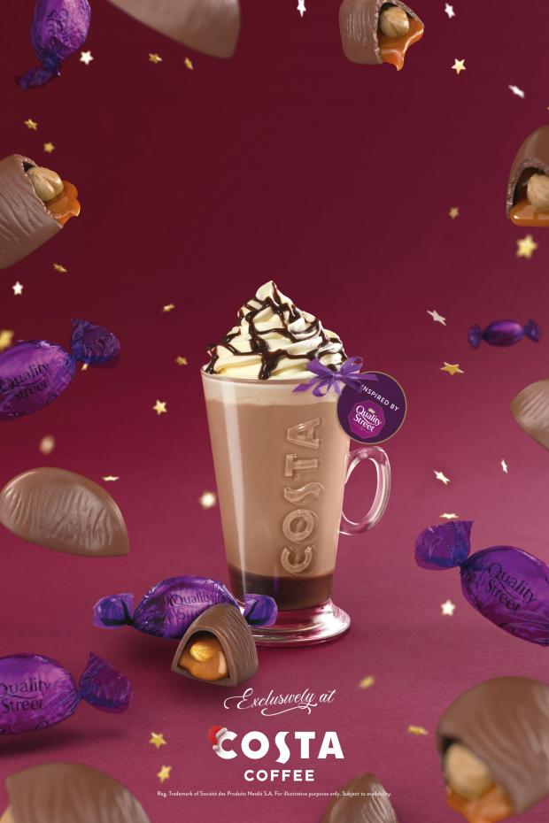 Cotswold Journal: The Quality Street Purple One Latte. Credit: Costa