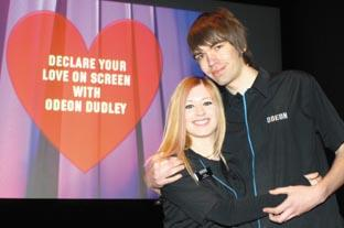 Odeon lovebirds Clare Deeley and Jamie Pickett. Buy Photo:  071021M