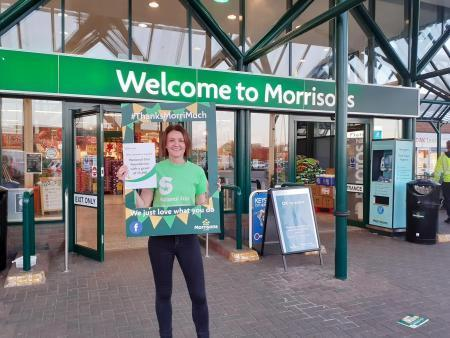 The Morrisons Foundation gifted  a grant of £5,500 to charity National Star