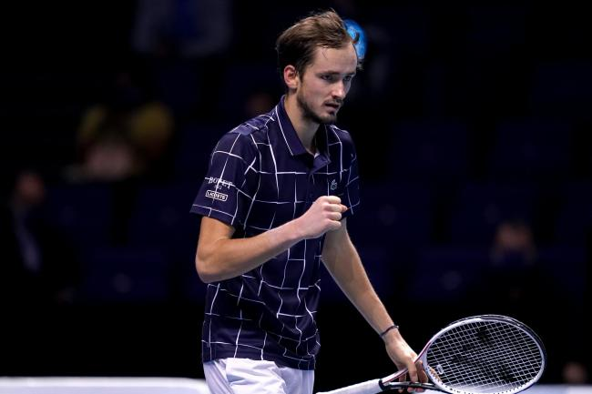 Daniil Medvedev clenches his fist during his victory over Dominic Thiem