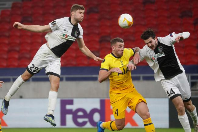 Tottenham and Wolfsberger in action