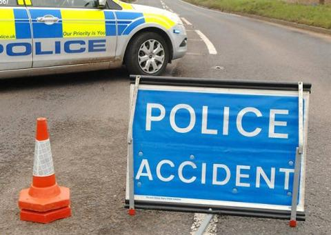 Man in hospital after crash near Stow