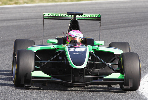 SPARKLING DEBUT: Alice Powell finished 11th in her first GP3 race of the season in Barcelona. Picture: ALICE POWELL