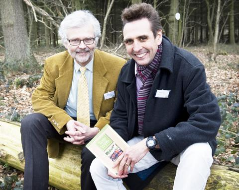 ALL SMILES: Peter Miller, left, BDT managing director, with Taste of the Wyre project brand designer Steve Pitt.