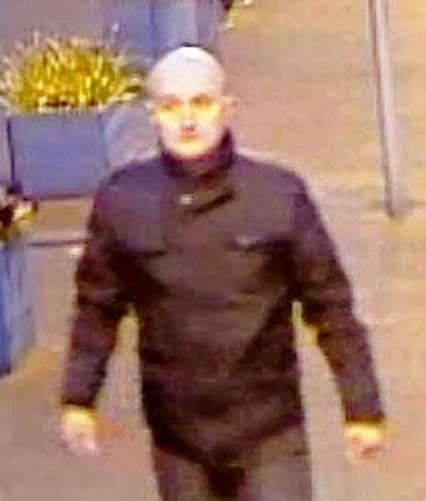 CCTV image of a man BTP would like to speak to about an assault on a member of rail staff at Moreton
