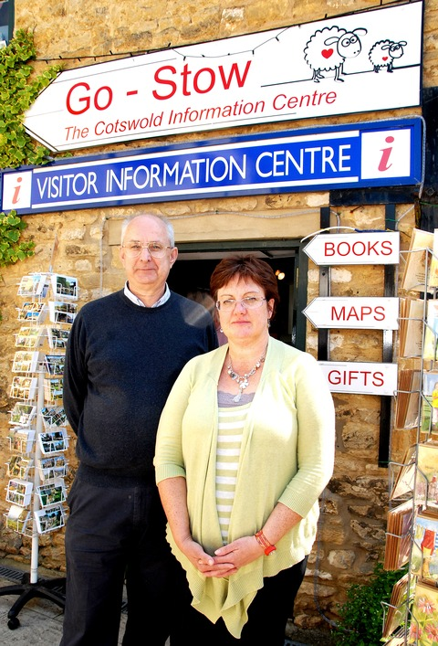 APPEAL: Sue and Walter Hasler ouside Go-Stow, their independent visitor centre.