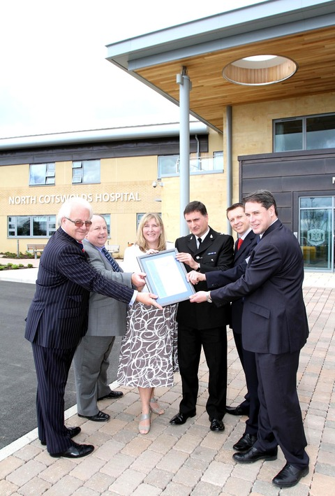 AWARD: Richard Ziebart, left, Paul Gooderson, chair of NHS Gloucestershire Ruth FitzJohn, Chief Superintendent NIgel Avron, Max Boyce and Simon Carey.