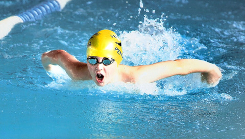 Young Simon Sweatman is in the UK's top-three in his age group for several events as his Pershore Swimming Club team-mates performed well in the second round of the Midlands Junior League Division Two.