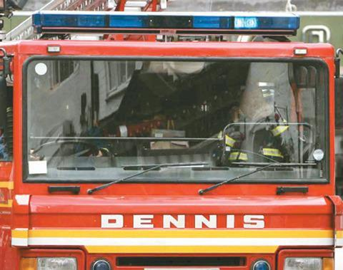 Car burnt out in blaze near Bourton