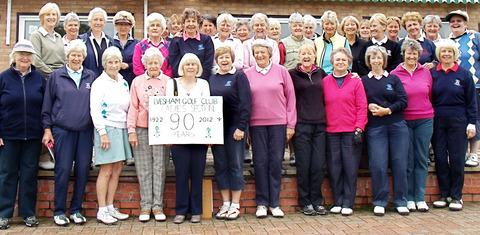 Golfers combine to mark clubs's 90th birthday