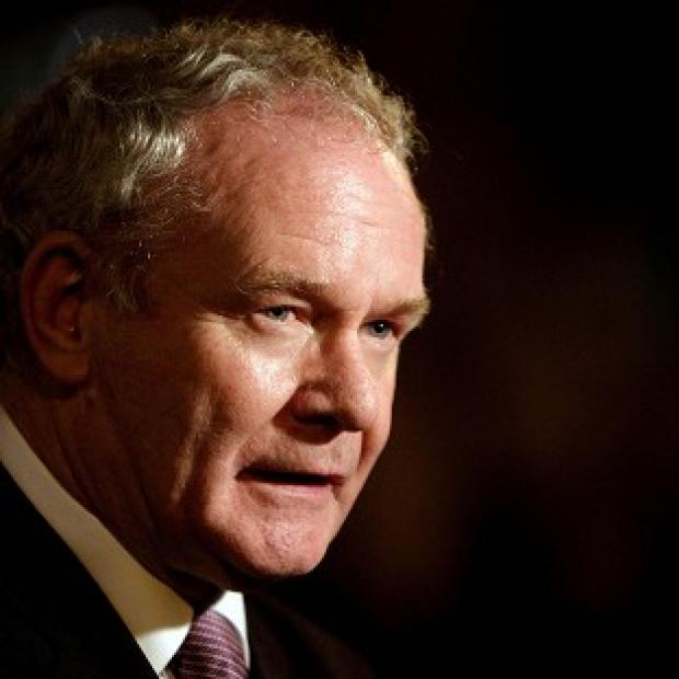 The historic handshake between Martin McGuinness (pictured) and the Queen has been hailed but Irish President Michael D Higgins