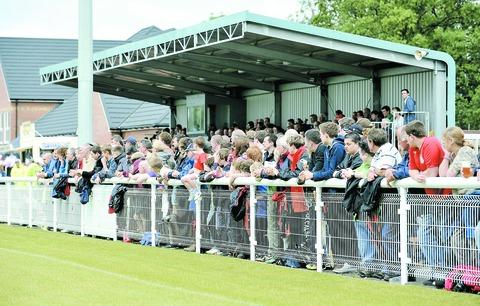 OUT IN FORCE: A 1,700-strong crowd were at Evesham United's Spiers and Hartwell Jubilee Stadium on Saturday. 27081904. Pictures: NICK TOOGOOD