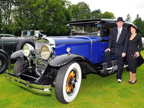 CLASSIC CAR: Winners of Best in the Spirit of the Show Stephen and Vicky Amor with their vintage car. Picture by Steve Eastell.