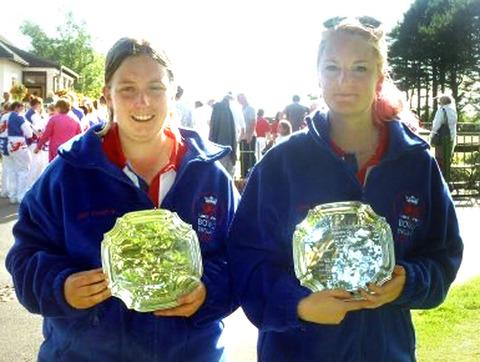 RUNNERS-UP: British second spot for Amy Stanton (left) and Sophie Inchley in the junior women's series event.