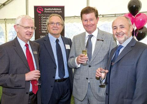 TOAST: David Houghton,  Dave Bradley, Cyril Arridge and Laurie Green at the event.