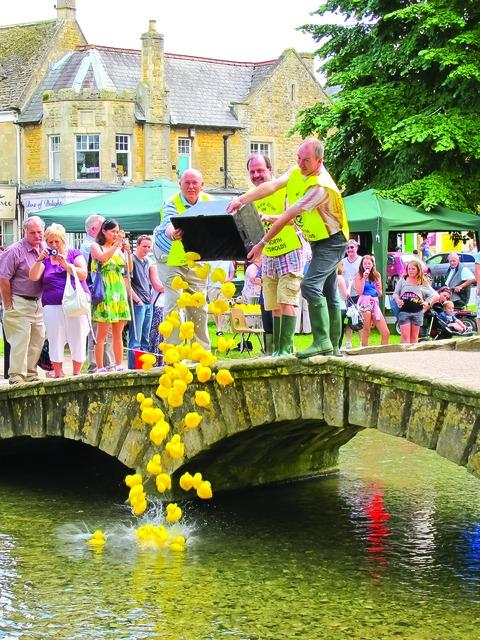 Soccer star enters duck race