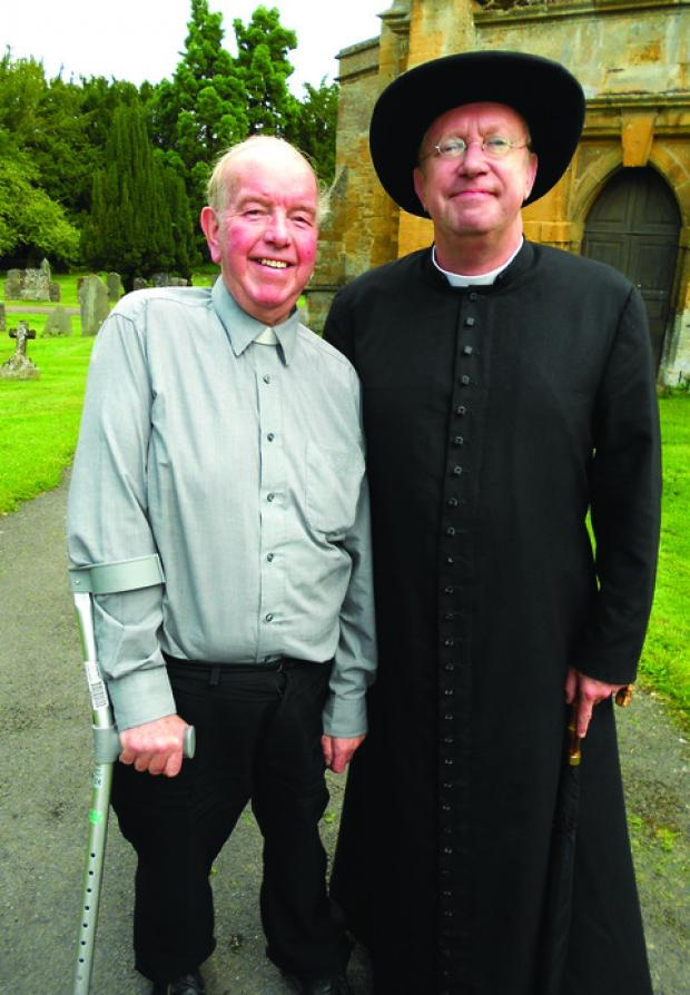 Cotswold Journal: There have been smiles all round as the BBC descended on a Cotswold village to film an upcoming series of Father Brown mysteries.